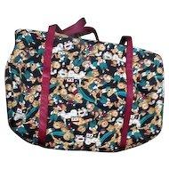 Weekender Cloth Travel Bag with Teddy Bears, Clown, Toys Design