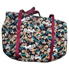 Weekender Cloth Travel Bag with Teddy Bears, Clown, Toys Design