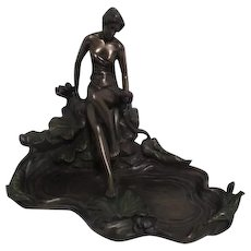 Art Nouveau Style Bronzed Figurine