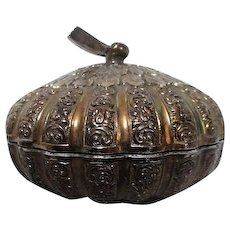Silverplated Round Lidded Box Non-Tarnish Finish from Japan