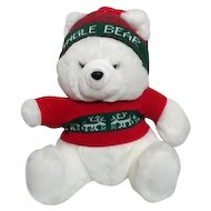 Dressed White Jingle Bear Made for Emporium or Capwell