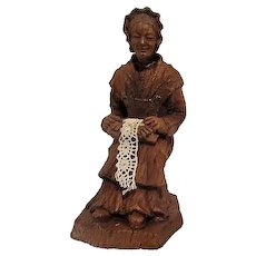 French Lady Lacemaker Figurine from France