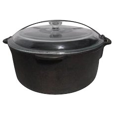 Wagner 1891 Five Quart Dutch Oven with Clear Glass Lid