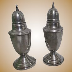 Pair of Weighted Sterling silver Salt and Pepper Shakers