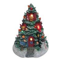 Teddy Bear Lighted Christmas Tree House
