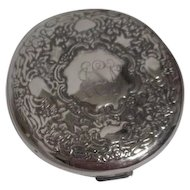 Silver Plated Double Mirror Compact Engraved NSB