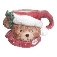 Teddy Bear Christmas Mug by FF 1991