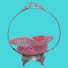 Silver Plated Bride's Basket by Kelley & Mcbean Company