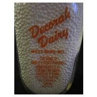 One Quart Milk Bottle/Decorah Dairy West Bend, WI