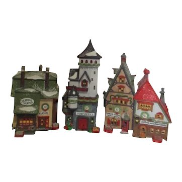 '92 Dept 56 Heritage Collection North Pole Series Set of 3 Buildings
