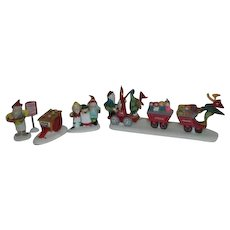 2 Sets Dept 56 Heritage Village Collection North Pole Series 1994 Accessories