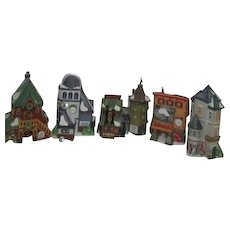 '95  Dept 56 Heritage Collection North Pole Series Set of 5 Buildings