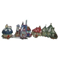 '98 Dept 56 Heritage Village Collection North Pole Series 4 Buildings