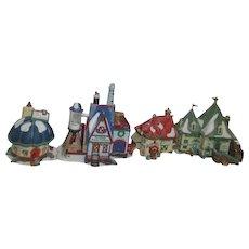 '98 Dept 56 Heritage Village Collection North Pole Series 4 Buildings