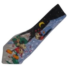 Micky & Minnie Mouse Romantic Scene Silk Tie
