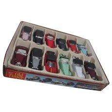 Old Timer Die Cast Metal Cars Set of 12 in Original Store Display Box