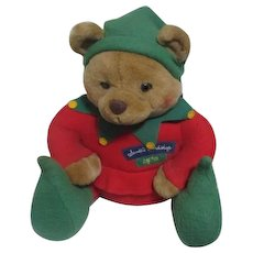 Hallmark Stuffed Bear Elf #25 from Santa's Workshop
