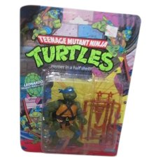 Teenage Mutant Ninja Turtles Leonardo The Battle Commander 1988 New in Box