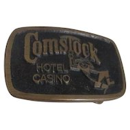 Solid Brass Comstock Casino Belt Buckle  from Provo Utah