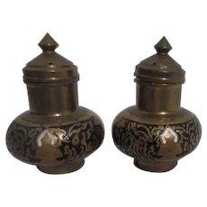 Brass Salt and Pepper Shaker Set
