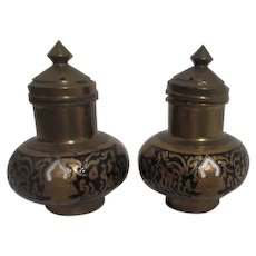 Brass Salt and Pepper Shaker Set