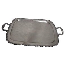 Oneida Silver Plated Double Handled Tray