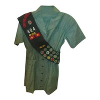 Girl Scout Uniform with Sash and Badges