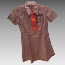 Brownie Scout Uniform with Orange Tie