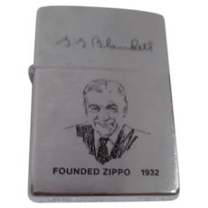 Zippo Lighter with Founder Blaisdell