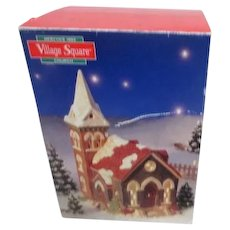 Mervyn's Christmas Village Square Ceramic Church