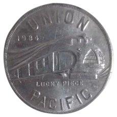 1934 Union Pacific Alcoa Aluminum Piece Advertising Pullman Car