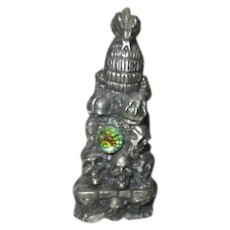 Gorham Pewter Dragon Magic Crystal Chess Set