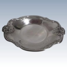 International Silver Co. Silver Plated Small Bowl with Floral Ornamentation