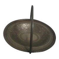 Kleinwort & Peerless Metal Handled Footed Bowl/Basket