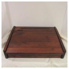 VIntage Wood Travel Correspondence Box