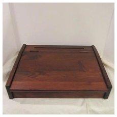VIntage Lidded Wood Travel Box