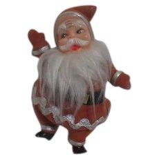 Felt Covered Plastic Standing Santa Claus
