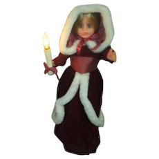 Rennoc Animations Girl Doll in Red and White with Candle that Lights