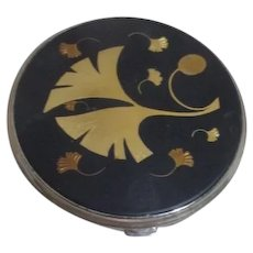 Crown Black and Gold Lady's Compact