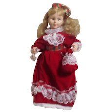 "Animated Display Doll by Motion-ettes Red with White Lace 24"" Tall"