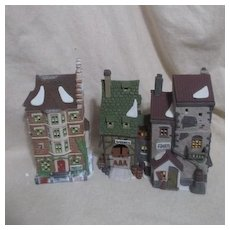 Dept 56 Christmas Heritage Village Collection Dickens Series Fagin's Hide-a-way and Nephew Fred's Flat