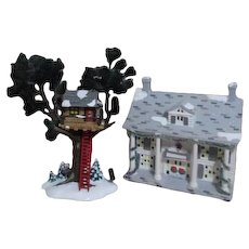 Dept 56 Snow Village Tree Top House and Cumberland House