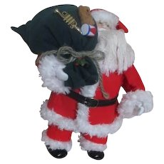 Santa Doll with Green Toy Bag