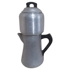 Hammered Pewter Silverseal Century Metalcraft Percolator and Coffee Pot