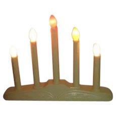 Christmas Window Mantle Light Plastic 5 Candle