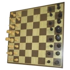 Wood Chess and Checkers Set with Legs
