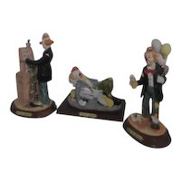 Set of 3 J.J. Jones Collector's Series Clowns