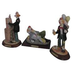 Set of 3 J.J. Jones Collector's Series Clowns
