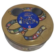 The Wonderful World of Disney Trivia Game in Metal Tin