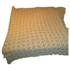 Large Hand Crocheted Tablecloth/Bedspread